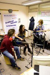 Hannah Dorman with band tight shot